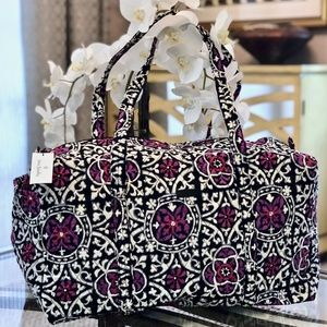 Vera Bradley Large Duffel Bag-Scroll Medallion